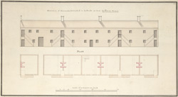 Elevation of Barracks Intended to be built at Fort William Henry